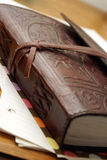 Luxury Leather Notebook Stock Photography