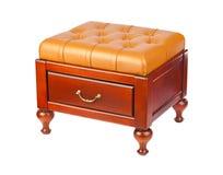 Luxury leather pouf Royalty Free Stock Photos