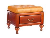 Luxury leather pouf Royalty Free Stock Photo