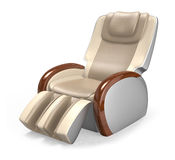 Luxury leather reclining massage chair. Stock Photo