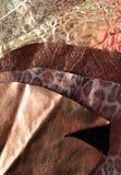 Luxury leather samples Stock Image