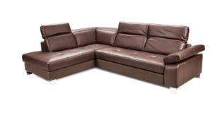 Luxury leather sofa isolated on white background Stock Photography