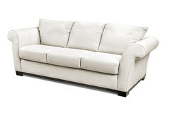 Luxury leather sofa isolated on white background Royalty Free Stock Photos