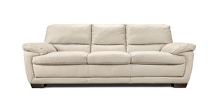 Luxury leather sofa isolated on white background Royalty Free Stock Images