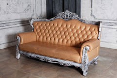 Luxury leather sofa style borokko in a beautiful Stock Images