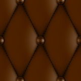 Luxury leather upholstery. Luxury brown leather upholstery seamless pattern Royalty Free Stock Photo