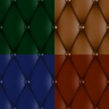 Luxury leather upholstery. Luxury brown leather upholstery seamless pattern Stock Photo