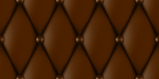 Luxury leather upholstery. Luxury brown leather upholstery seamless pattern Royalty Free Stock Photos