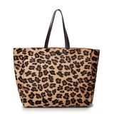 Luxury leopard female bag isolated Stock Photography