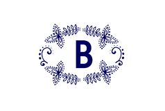 Luxury Letter B Logo Design. Simple Elegant Monogra Vector. Luxury Letter B Logo Design. Simple Elegant Monogram Vector isolated on white Stock Image