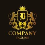 Luxury Letter `B` Logo. Luxury and elegant letter `B` logo illustration Stock Images