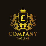 Luxury Letter `C` Logo. Luxury and elegant letter `C` logo illustration Stock Photography