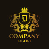 Luxury Letter `D` Logo. Luxury and elegant letter `D` logo illustration Royalty Free Stock Photography