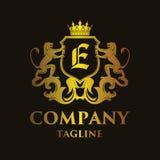 Luxury Letter `E` Logo. Luxury and elegant letter `E` logo illustration Stock Image