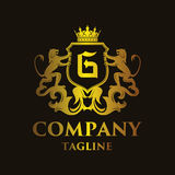 Luxury Letter `G` Logo. Luxury and elegant letter `G` logo illustration Stock Photography