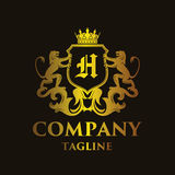 Luxury Letter `H` Logo. Luxury and elegant letter `H` logo illustration Royalty Free Stock Photos