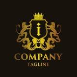 Luxury Letter `i` Logo. Luxury and elegant letter `i` logo illustration Royalty Free Stock Image