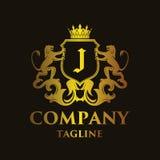 Luxury Letter `J` Logo. Luxury and elegant letter `J` logo illustration Stock Image