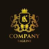 Luxury Letter `K` Logo. Luxury and elegant letter `K` logo illustration Royalty Free Stock Image