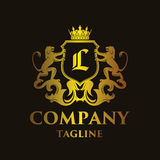 Luxury Letter `L` Logo. Luxury and elegant letter `L` logo illustration Royalty Free Stock Image