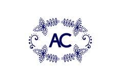 Luxury Letter AC Logo Design. Simple Elegant Monogra Vector. Luxury Letter A Logo Design. Simple Elegant Monogram Vector isolated on white Stock Images