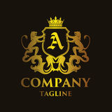 Luxury Letter `A` Logo. Luxury and elegant letter `A` logo illustration Stock Photography