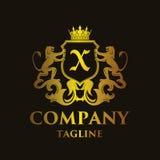 Luxury Letter `X` Logo. Luxury and elegant letter `X` logo illustration Stock Photo