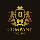 Luxury Letter `M` Logo. Luxury and elegant letter `M` logo illustration Stock Image