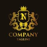 Luxury Letter `N` Logo. Luxury and elegant letter `N` logo illustration Royalty Free Stock Images