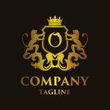 Luxury Letter `O` Logo. Luxury and elegant letter `O` logo illustration Royalty Free Stock Photography