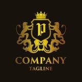 Luxury Letter `P` Logo. Luxury and elegant letter `P` logo illustration Stock Images