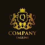 Luxury Letter `Q` Logo. Luxury and elegant letter `Q` logo illustration Stock Photos