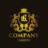 Luxury Letter `R` Logo Stock Images