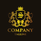 Luxury Letter `S` Logo Stock Photo