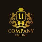 Luxury Letter `U` Logo Stock Photography