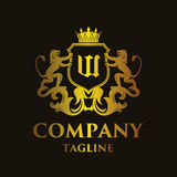 Luxury Letter `W` Logo Royalty Free Stock Images