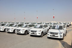 Luxury Lexus SUVs in Qatar Stock Photo
