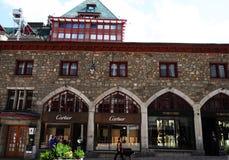 Luxury Lifestyle: Via Serlas luxury brand store Shopping mile royalty free stock photos