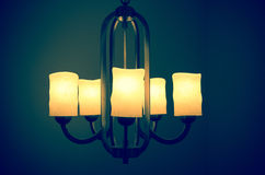 Luxury lighting decoration vintage furniture Royalty Free Stock Image