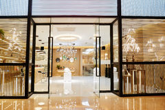 Luxury lighting shop in shopping mall Stock Images