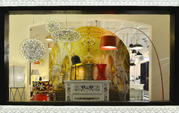 Luxury lighting shop window Stock Images