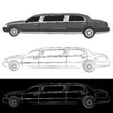 Luxury Limo Car Icon. An image of a stretched limousine vehicle Royalty Free Stock Image