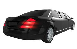 Luxury Limousine Isolated Stock Images