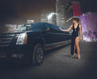 Luxury limousine Royalty Free Stock Image