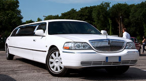 Luxury Lincoln Limo stock image