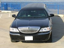 Luxury Lincoln Limo. Luxury Black Lincoln Limousine Royalty Free Stock Image