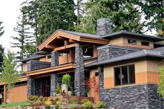 Luxury Living. An executive home in the Northwest Stock Image