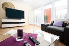 Luxury living room. Luxury bright  modern living room Royalty Free Stock Image