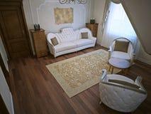 Luxury living room in classic interior Stock Images