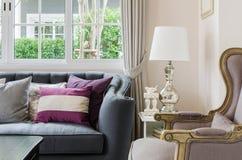 Luxury living room design with sofa Stock Photo